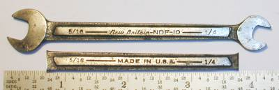 [New Britain NDF-10 1/4x5/16 Open-End Wrench]
