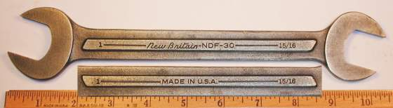 [New Britain NDF-30 15/16x1 Open-End Wrench]