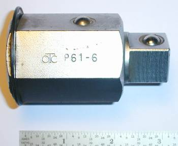[OTC P-61-6 1.5-Hex To 3/4 Square Adapter Plug]