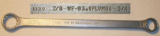 [Plomb WF-83 (1139) 3/4x7/8 Box-End Wrench]