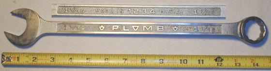 [Plomb 1234 1-1/16 Combination Wrench]