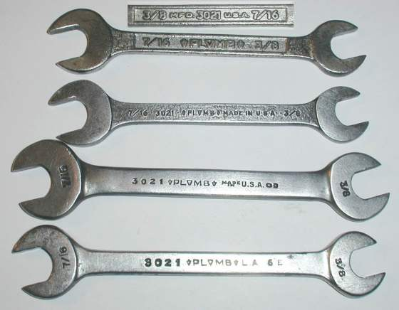 [Plomb 3021 Open-End Wrenches]