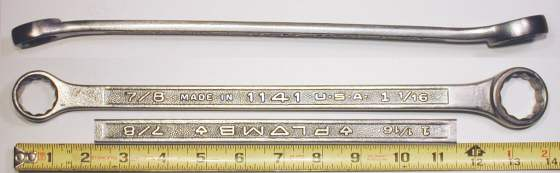 [Plomb 1141 7/8x1-1/16 Box-End Wrench]
