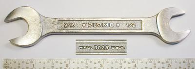 [Plomb 3026 1/2x9/16 Open-End Wrench]