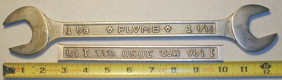 [Plomb 3050 1-1/16x1-1/8 Open-End Wrench]