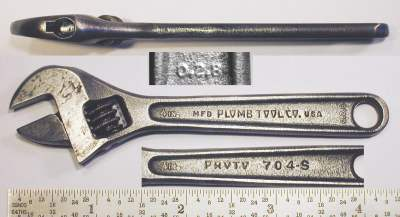 [Proto 704-S Plomb Tool Co. 4 Inch Adjustable Wrench]