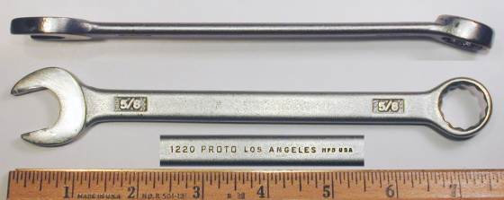 [Proto Los Angeles 1220 5/8 Combination Wrench]