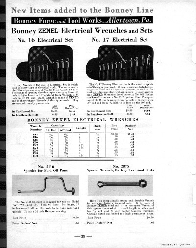 [January, 1933 Catalog Listing for Zenel Electrical Wrenches]