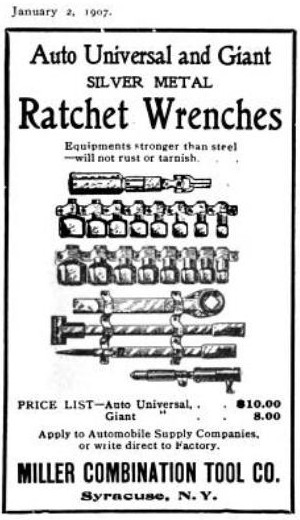 [1907 Advertisement for Miller Combination Tool]