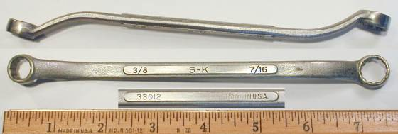 [S-K 33012 3/8x7/16 Offset Box Wrench]