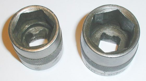 Snap-On Sockets Showing Broaching Details]