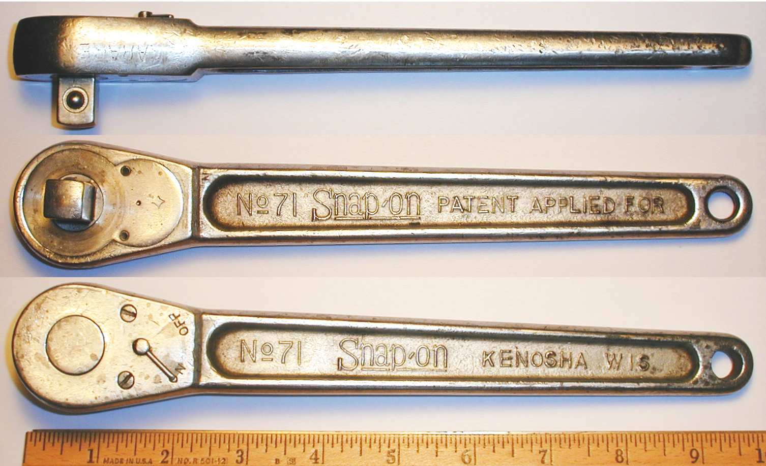 Snap On No 71 1 2 Drive Ratchet