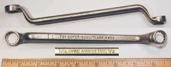 [Super-Quality 731 1/2x9/16 Offset Box Wrench]