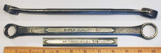 [Super-Quality 715 3/4x7/8 Box-End Wrench]