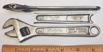 [Utica Early No. 91 6 Inch Adjustable Wrench]