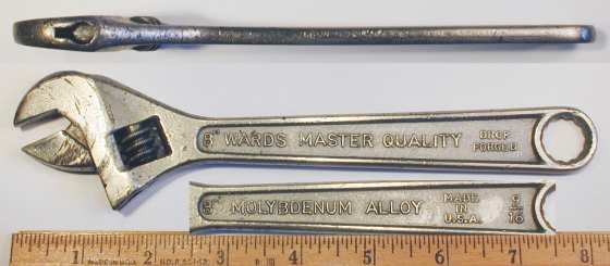 [Ward's Master Quality 8 Inch Adjustable Wrench]
