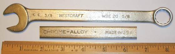 [Westcraft WBE20 5/8 Combination Wrench]
