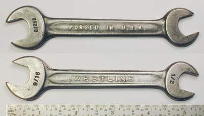 [Westline 0725B 1/2x9/16 Open-End Wrench]