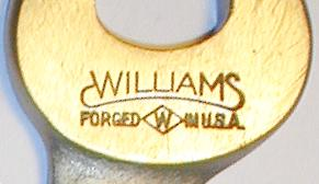 [Williams Forged in U.S.A. Face Markings]