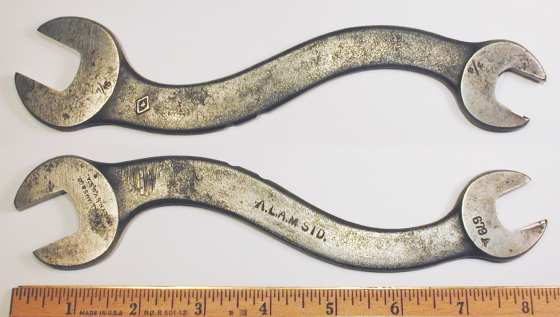 [Early Williams No. 679A A.L.A.M. 9/16x11/16 S-Shaped Open-End Wrench]