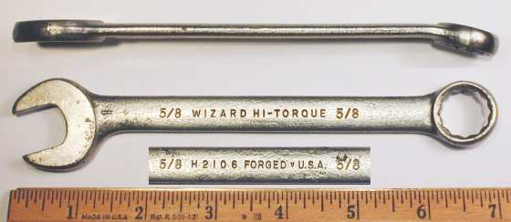 [Wizard H2106 5/8 Combo Wrench]