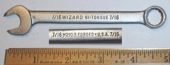 [Wizard H2103 7/16 Combo Wrench]